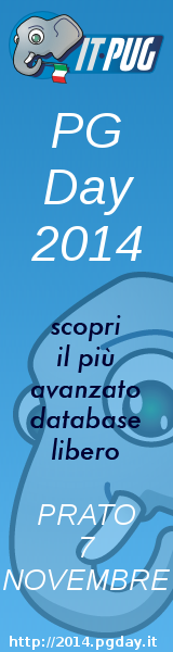 PGDay.IT 2014 - Italian PostgreSQL Day